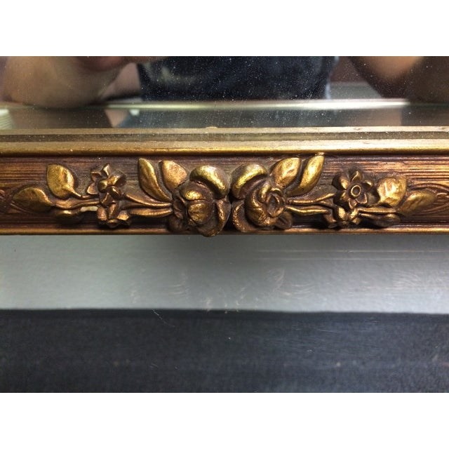 Image of Early 1900s Ornate Hand Carved Mirror