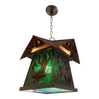 Vintage Nautical Craftsman Hanging Lantern