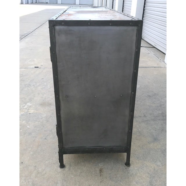 Industrial Antiqued Metal Cabinet - Image 5 of 10