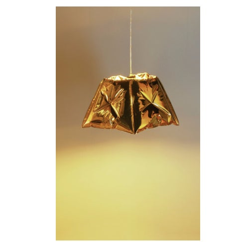 Image of Dent Gold Metallic Pendant Light