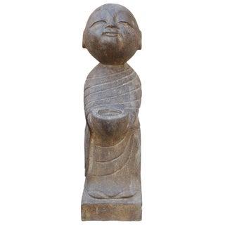 Chinese Stone Standing Zen Lohon Figure