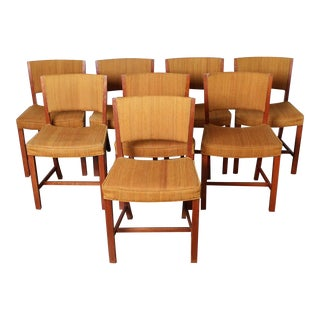 Eight Early Fritz Hansen Dining Chairs