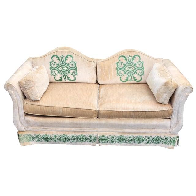 Vintage Highland House Of Hickory Velvet Love Seat Chairish