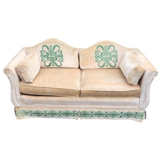 Vintage Highland House of Hickory Velvet Love Seat