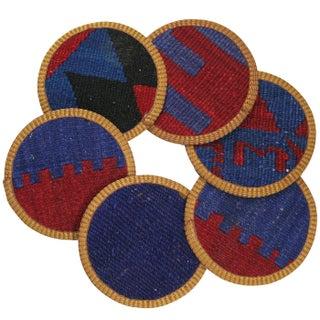 Zühal Kilim Coasters - Set of 6
