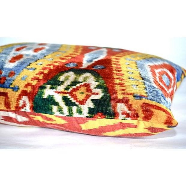 Image of Silk Velvet Double-Sided Ikat Pillow