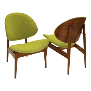 Kodawood 1950's Clam Shell Chairs by Seymour James Weiner.
