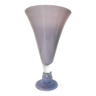 Large Violet Blown Glass Vase
