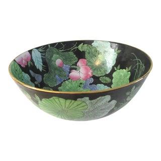 Vintage Chinese Lotus Flower Bowl