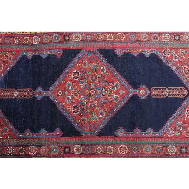 "Antique North West Persian Runner Rug - 3'5"" X 16'5"" - Image 4 of 5"