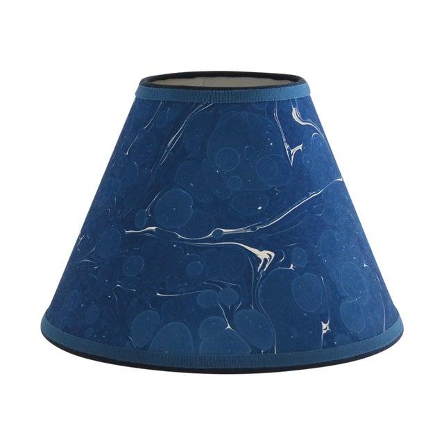 Indigo Marble Lampshade - Image 1 of 3