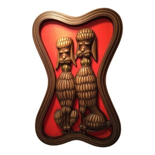 Syroco Poodle Dog Wall Plaque