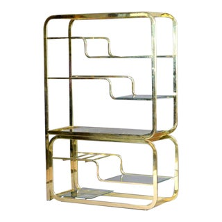 Milo Baughman Brass Shelf