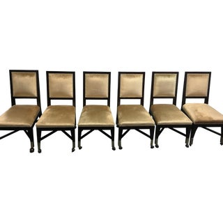 Mark David Gold Velvet Dining Chairs - Set of 6