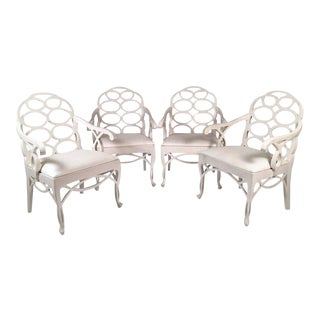Set of Four Frances Elkins Loop Armchairs