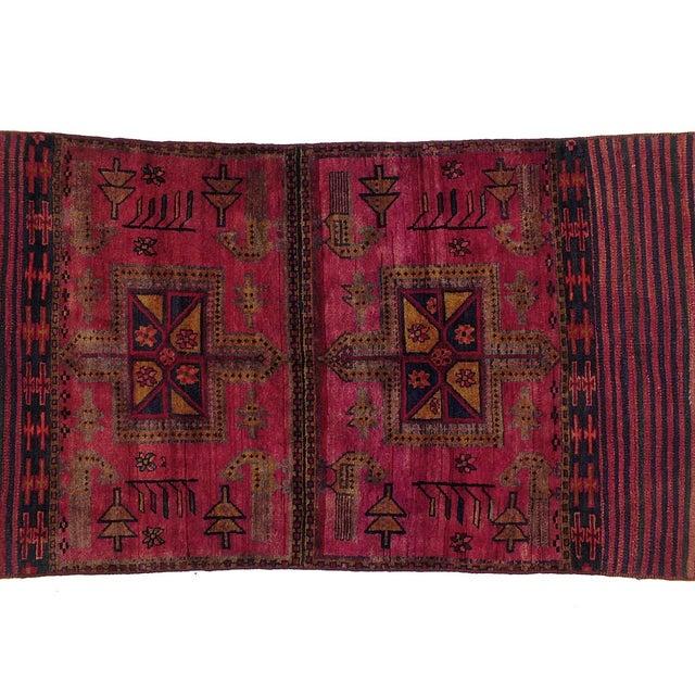 "Vintage Persian Tacheh Rug - 4' X 7'7"" - Image 2 of 3"