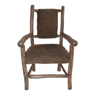 Hickory Wood & Custom Fabric Child's Chair