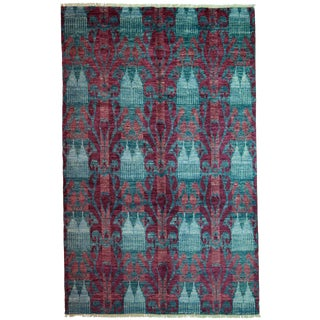 """Ikat, Hand Knotted Area Rug - 5' 10"""" x 9' 4"""""""