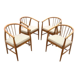 Mid-Century Danish Modern Dining Chairs- Set of 4