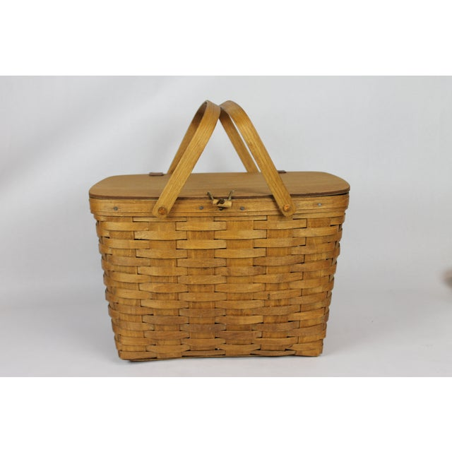 Image of Vintage Longeberger Picnic Basket