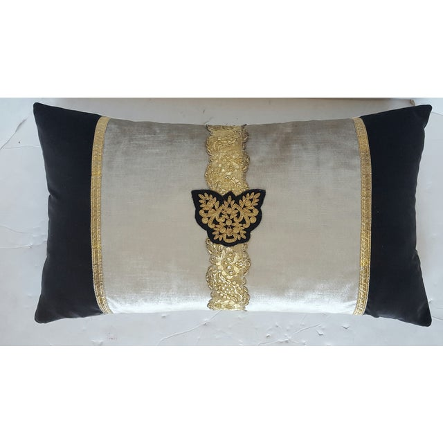 Classic Crest And Passamenterie Trim Pillow - Image 2 of 3