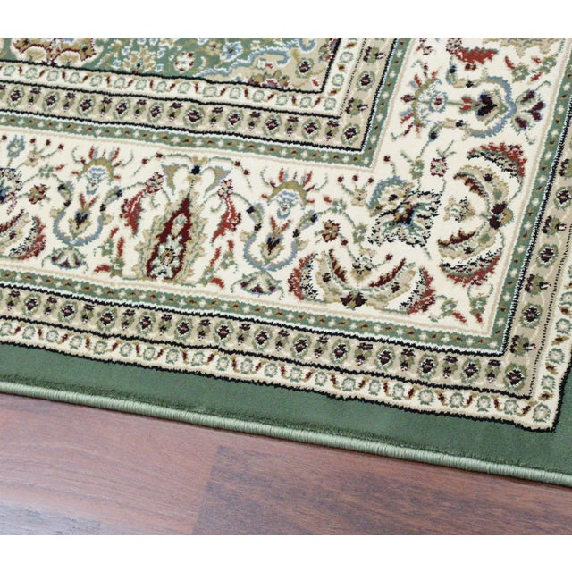 Traditional Medallion Green Rug - 5′3″ × 7′4″ - Image 6 of 8