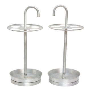 Pair of Vintage Aluminum 'Glaro' Umbrella Stands