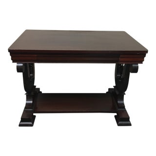 Antique Mahogany Table With Drawer