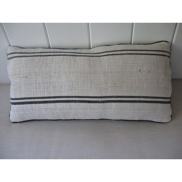 Hand Loomed Stripe Pillow - Image 4 of 4