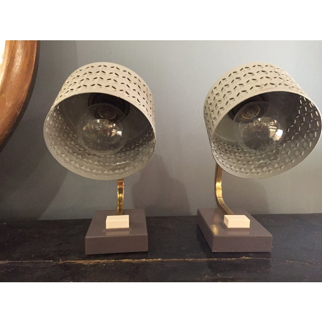 Mid-Century Bedside Table Lamps - A Pair - Image 3 of 7