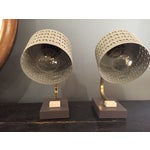 Image of Mid-Century Bedside Table Lamps - A Pair