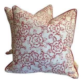 Pillows in John Robshaw Fabric for Duralee - a Pair
