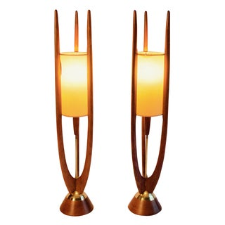 Rare Modeline Sculptural Lamps - A Pair