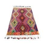 Image of Vintage Turkish Kilim Rug - 4′3″ × 6′6″