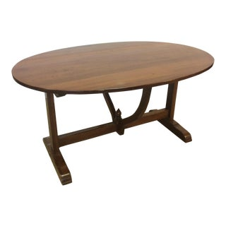 Vintage Oval Wine-Cellar Style Dining Table