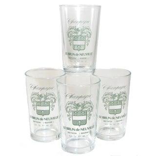French Champagne Tasting Glasses - Set of 4