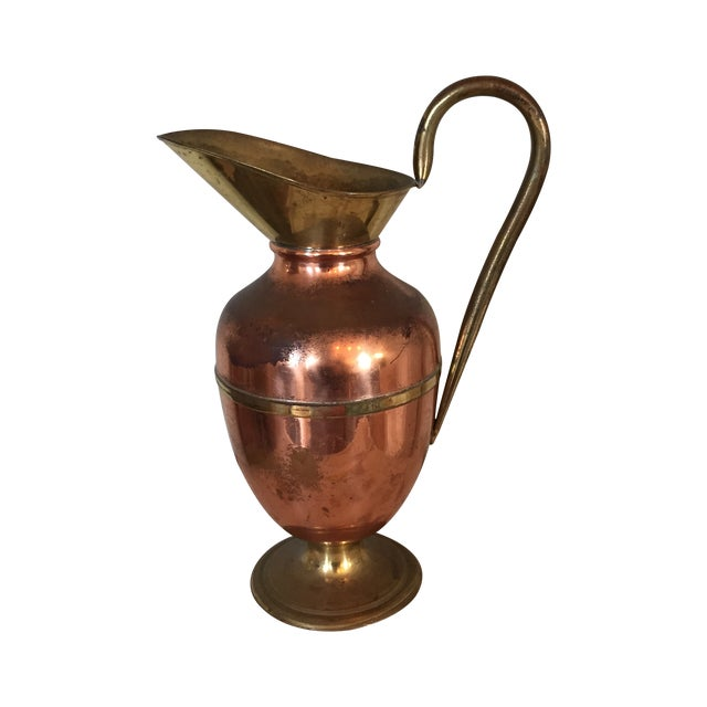 Brass and Copper Pitcher - Image 1 of 8