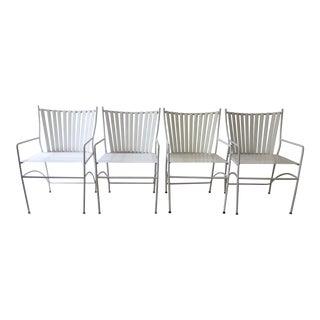 Mid-Century Modern Metal & Vinyl Chairs -  S/4