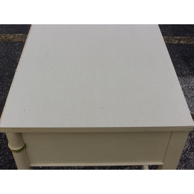 Mid-Century Bamboo Style Desk - Image 6 of 8