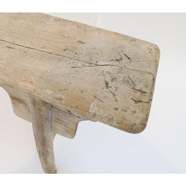 19th Century Oak Mortised Bench - Image 7 of 7