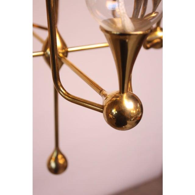 West German Brass and Glass Oil Lamp Candelabra by Freddie Andersen - Image 4 of 9