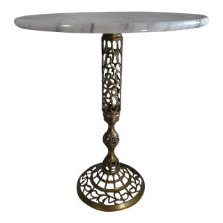 Moroccan Style Italian Marble Accent Table