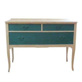 Vintage Teal 3-Drawer Sideboard / Linen Dresser