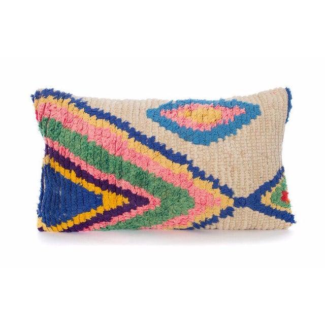 Moroccan Boucherouite Pillow - Image 2 of 3
