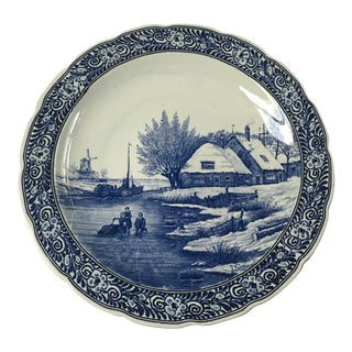Delft Hand Painted Signed Platter