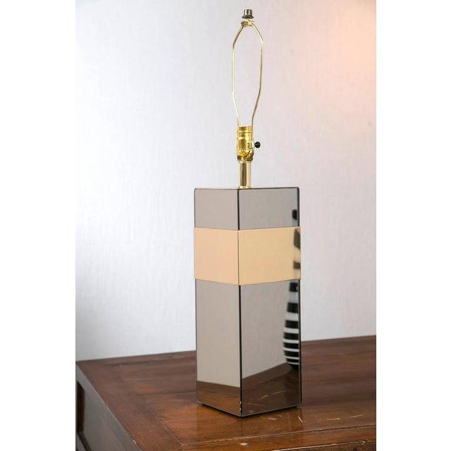 Paul Evans Style Glass and Brass Lamp - Image 2 of 6