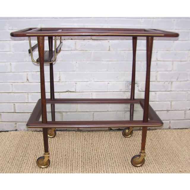 1950s Cesare Lacca Italian Bar Cart - Image 4 of 9
