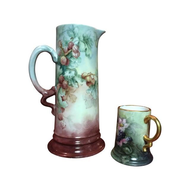 2 Piece Antique Rosenthal Bavaria Porcelain Set - Image 1 of 8