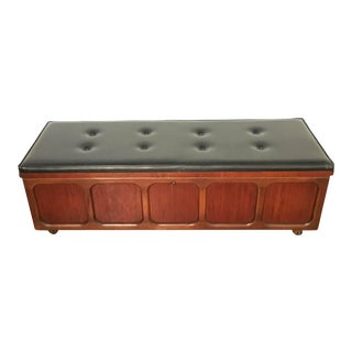 Lane Furniture Leather Top Storage Bench