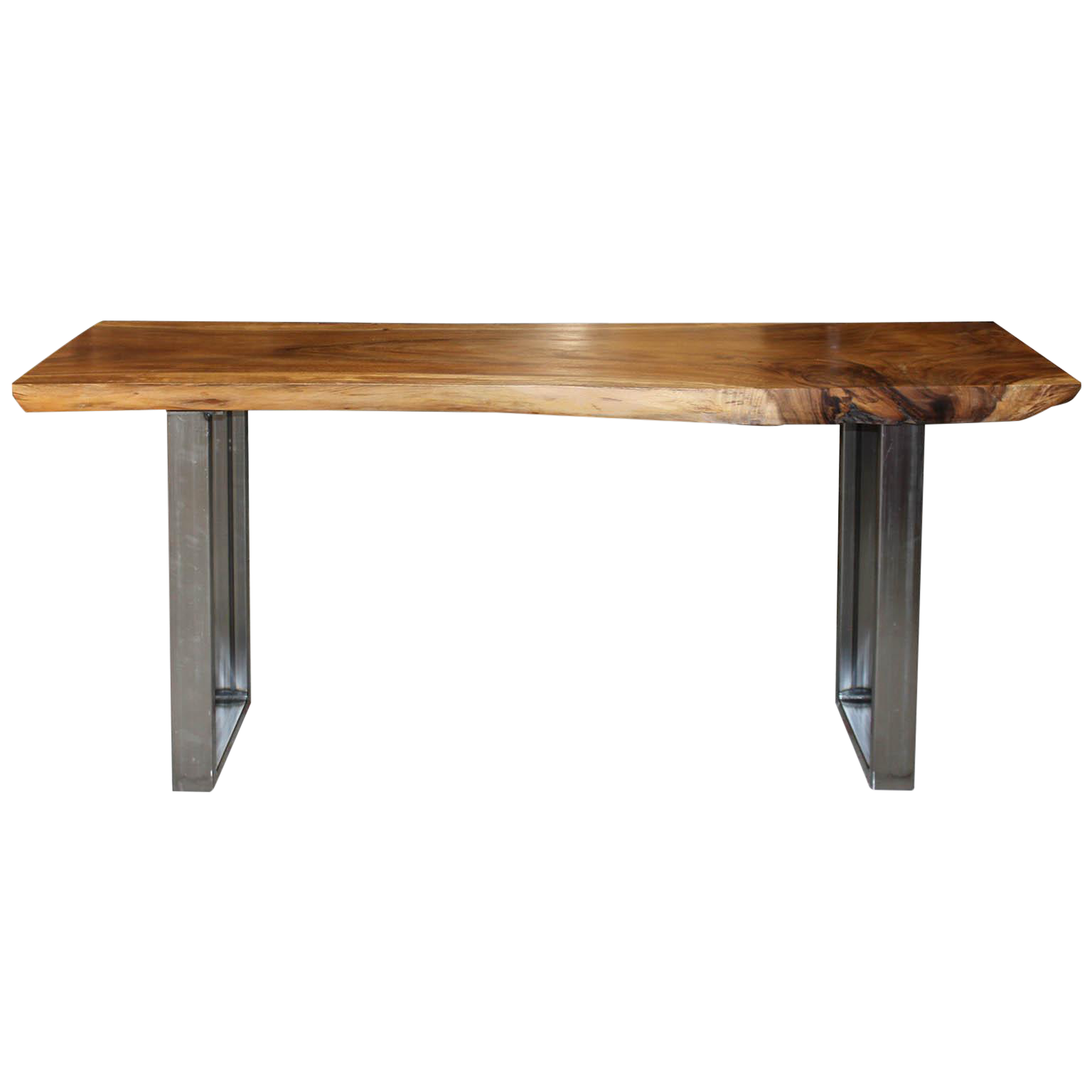 Acacia On Metal Legs Console Table   Image 1 Of 7